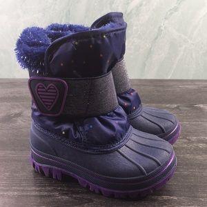 Cat & Jack Charissa Glitter Faux Fur Winter Boots